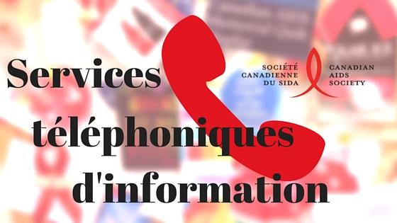 Services téléphoniques d'information